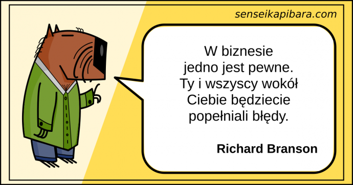 żółty - będziecie popełniali błędy - richard branson