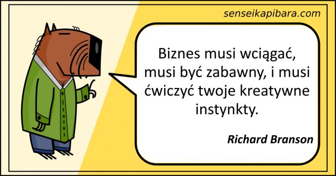 żółty - biznes musi wciągać - richard branson