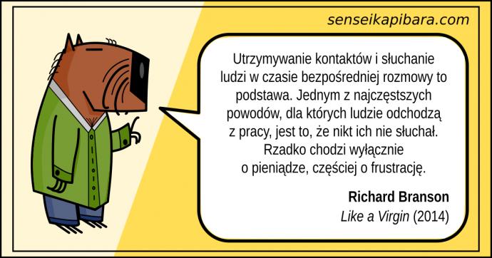 żółty - słuchanie ludzi to podstawa - richard branson