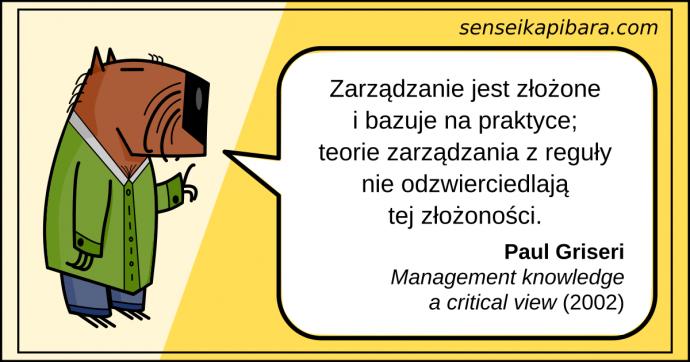 żółty - zarządzanie jest złożone - paul griseri