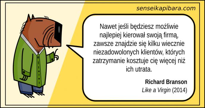 żółty - zawsze kilku niezadowolonych klientów - richard branson