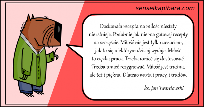 czerwony - miłość jest trudna i piękna - ks jan twardowski