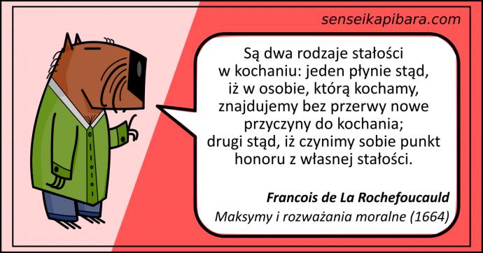 czerwony - stałość punkt honoru - Rochefoucauld
