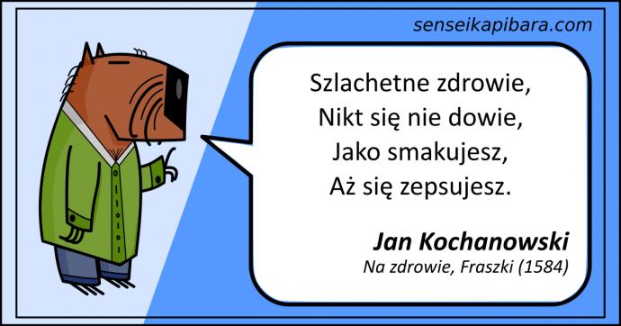 niebieski - fraszka o zdrowiu - jan kochanowski