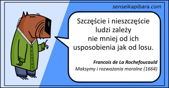 niebieski - szczęście i nieszczęście - Rochefoucauld