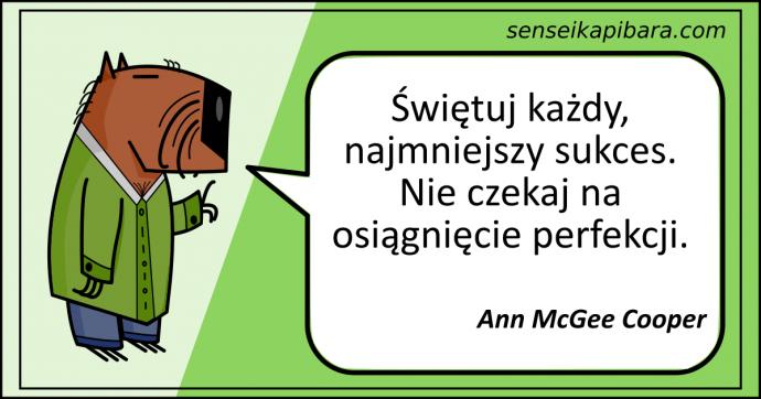 zielony - świętuj każdy sukces - ann mcgee cooper