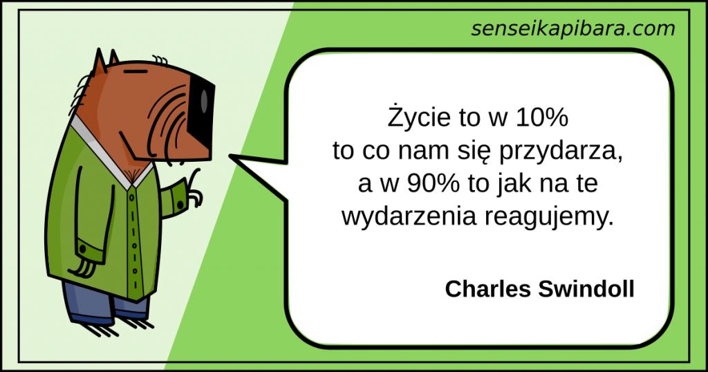 zielony - życie to w 10 procentach - charles swindoll