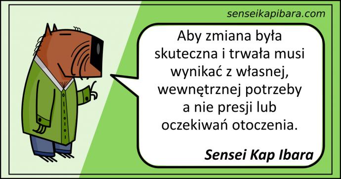 zielony - aby zmiana była skuteczna - sensei kap ibara