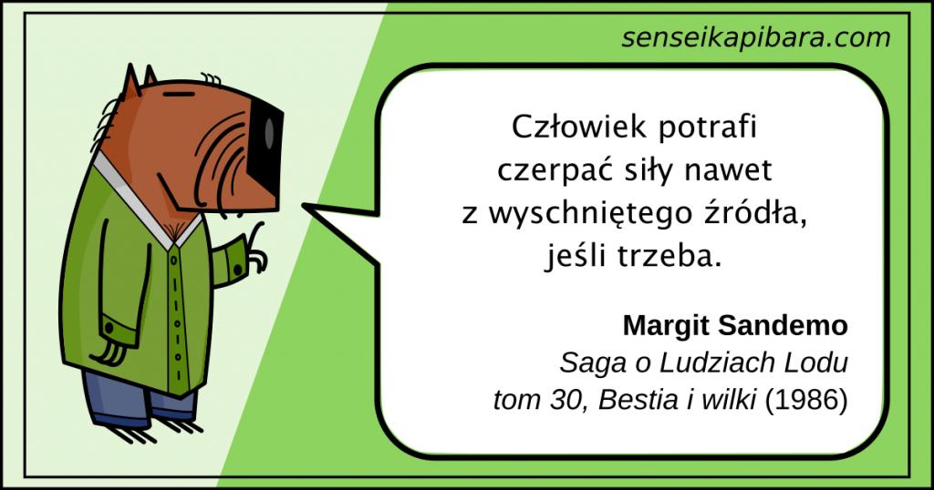 zielony - czerpać siły z wyschniętego źródła - margit sandemo