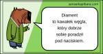 zielony - diament to kawałek węgla