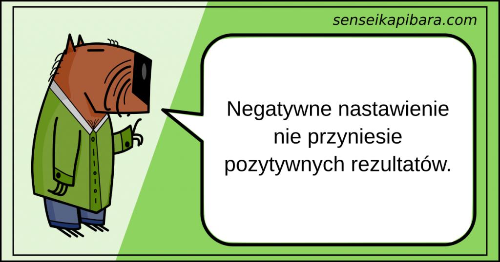 zielony - negatywne nastawienie