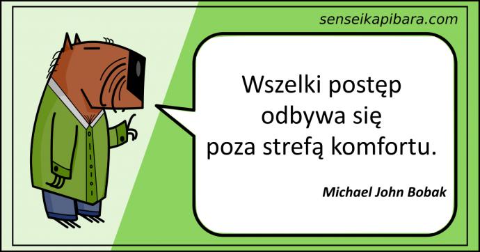 zielony - postęp poza strefą komfortu - michael john bobak