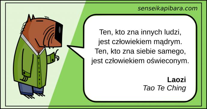 zielony - ten kto zna siebie jest oświecony - Laozi