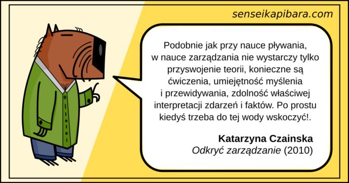 żółty - zarządzanie jak pływanie - katarzyna czainska