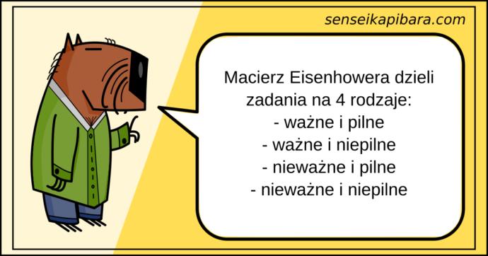 żółty - macierz eisenhowera