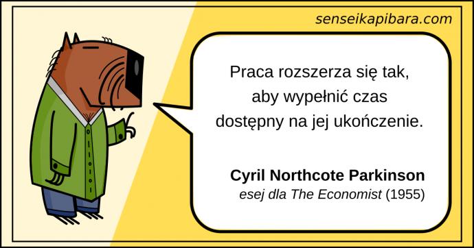 żółty - prawo parkinsona - cyril parkinson