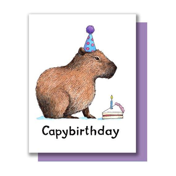 capybirthday / źródło: www.etsy.com