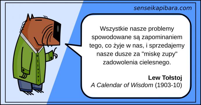niebieski - Wszystkie nasze problemy spowodowane są zapominaniem tego co żyje w nas - Lew Tołstoj