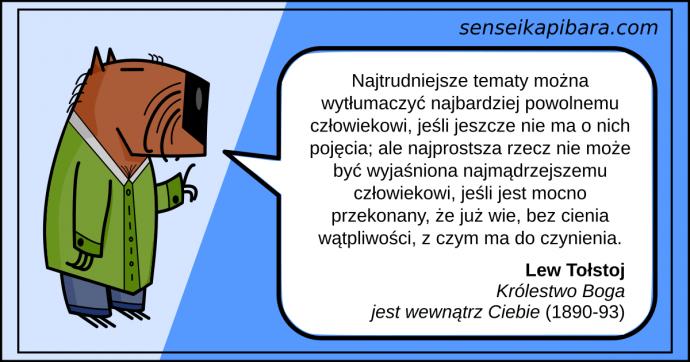 niebieski - Najtrudniejsze tematy można wytłumaczyć - Lew Tołstoj