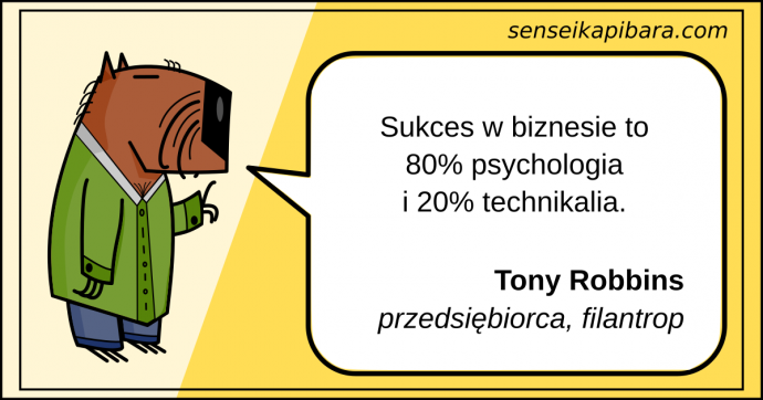 żółty - biznes to psychologia - Tony Robbins